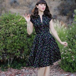 Trashy Diva Hopscotch dress in hourglass print, 10